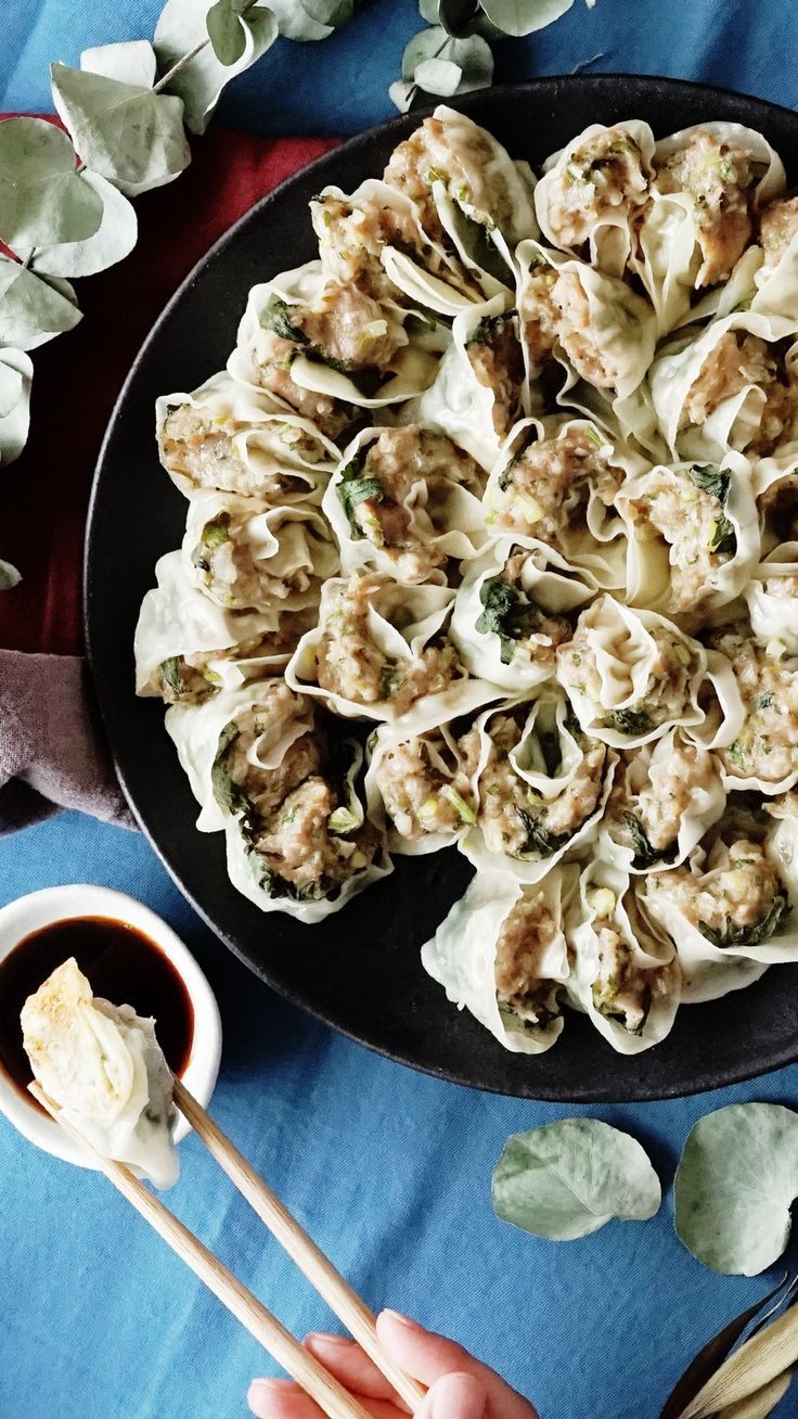 Crispy and herby pork potstickers are what savory dreams are made of.