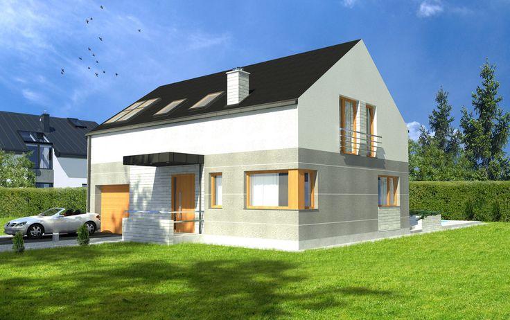 Projekt TLF-548: to projekt, który przedstawia ekonomiczny, wygodny i przytulny dom parterowy z poddaszem użytkowym. W tym przypadku zastosowano nowoczesne rozwiązania funkcjonalne, które pozwoliły na uzyskanie na stosunkowo niewielkiej powierzchni bogatego programu użytkowego dającego poczucie przestrzeni i komfortu.