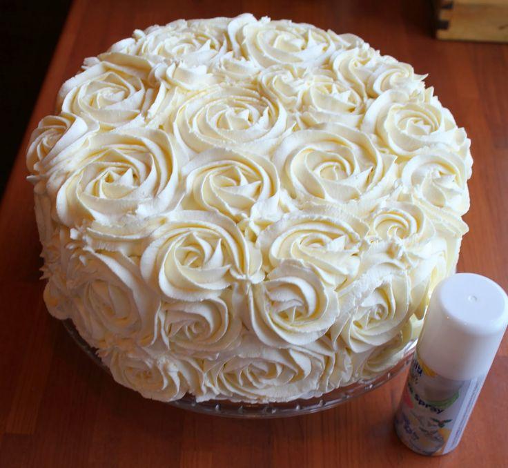 Ohje ruusupursotukseen! Tämä tekniikka on nopea ja helppo tehdä ja saa valtavan kauniin lopputuloksen:) Itse vatkaan kerman + sokerin suh...