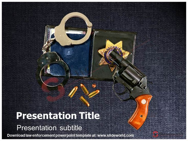 law enforcement powerpoint template - slide world | 3d animated, Modern powerpoint