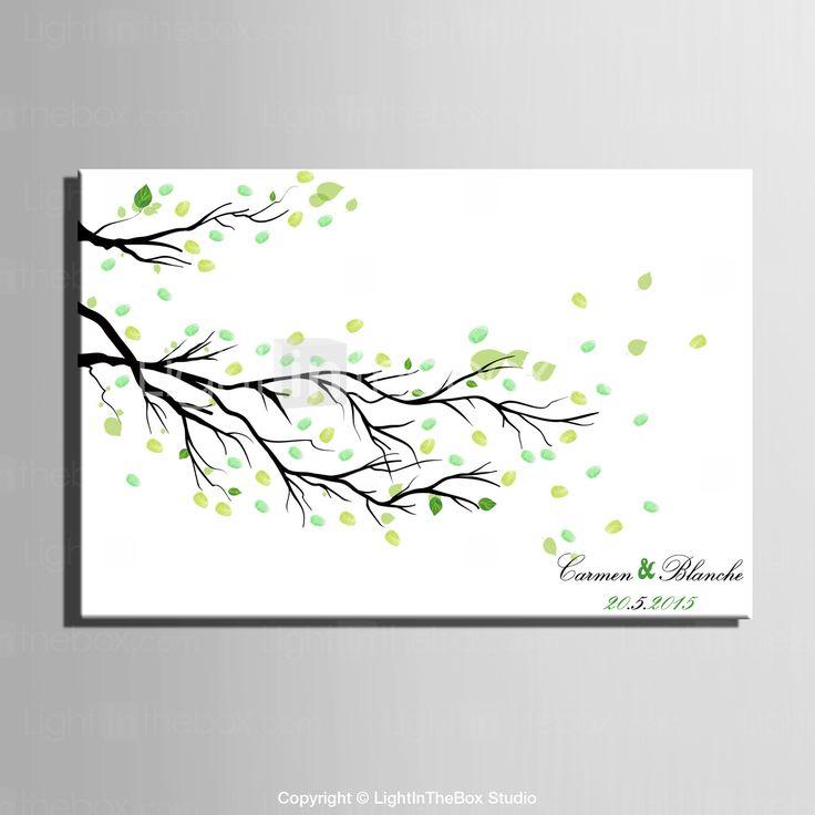 E-HOME® Personalized Fingerprint Painting Canvas Prints - Fallen Leaves (Includes 12 Ink Colors) 2015 – $21.99