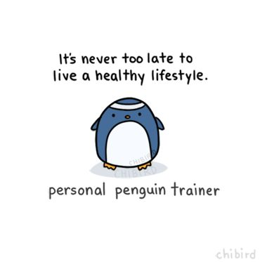 the personal trainer penguin is genuinely too fabulous.