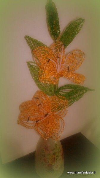 tutorial fiori di perline il giglio