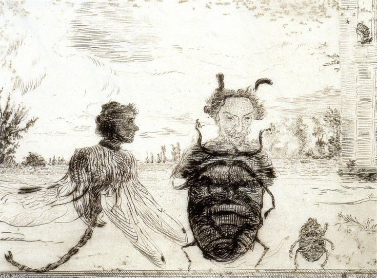 """""""Strange Insects"""" James Ensor 1888, pointe-sèche, Ostende"""