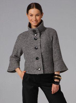 Burda short jacket 3/4 sleeves