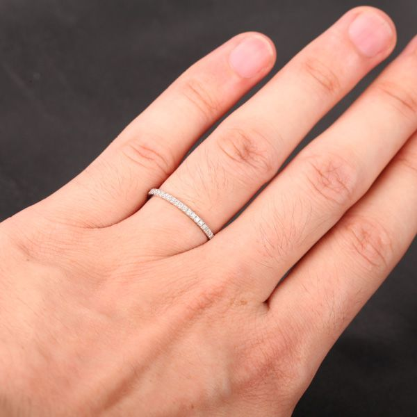 Thin Pave Wedding Band I M Digging The Bands My Hily Ever After Pinterest Weddings And Engagement