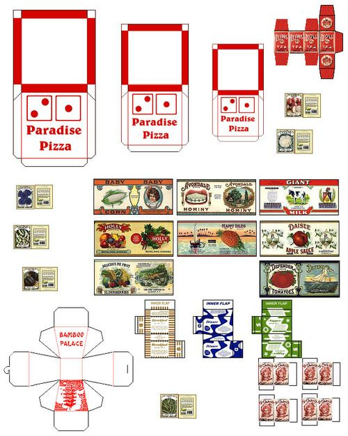 printables mini food   restaurant fast foods