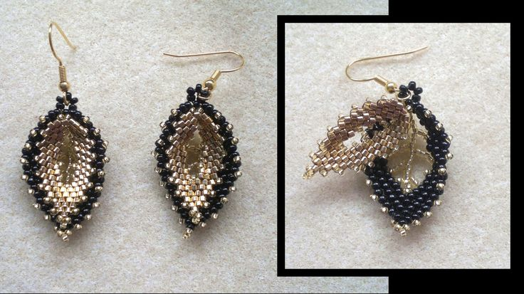 beading4perfectionists : Russian double leaf earrings beading tutorial (...