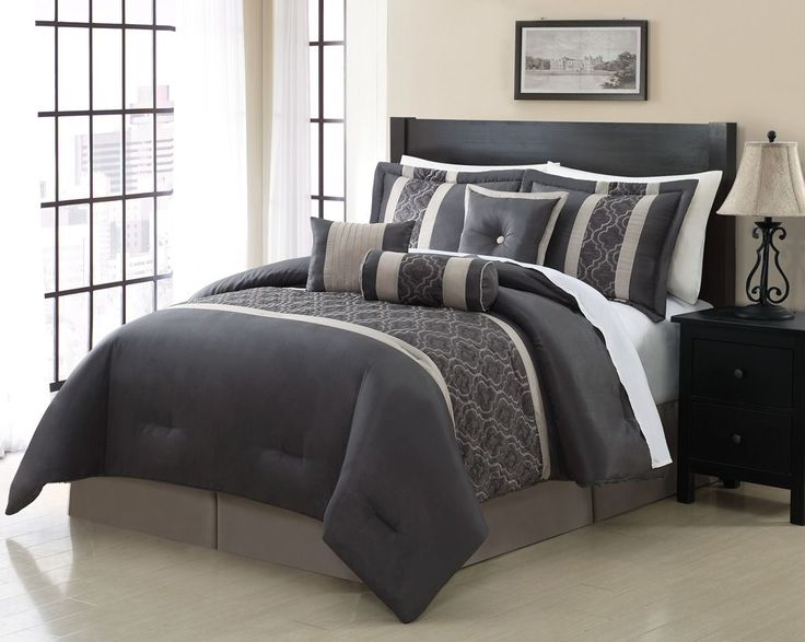 piece cal king renee embroidered comforter set with inspired design and 7 piece bedroom set king bed maximize the comfort in men bedroom as well as giving - Bedroom Set For Men
