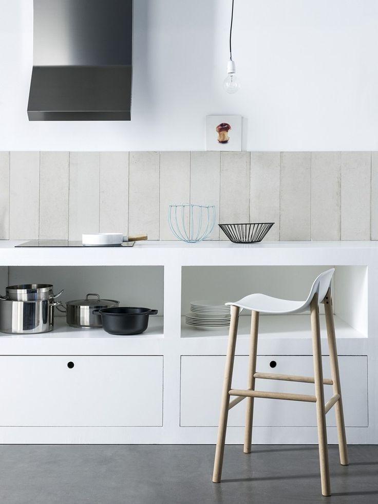 Polyurethane counter #stool SHARKY by Kristalia | #design Neuland Industriaedesign @kristaliadesign
