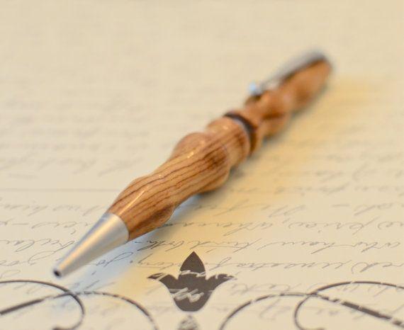 Handmade Wooden Pen  Bethlehem Olivewood Wooden Pen by GreyLanes, $35.00