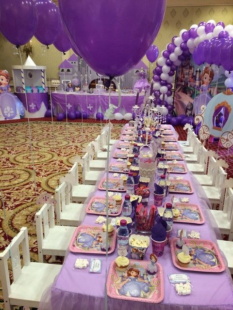 Princess Sofia Birthday Party Ideas | Photo 1 of 36 | Catch My Party