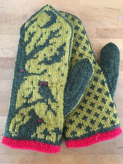 For my birthday my girls gave me some yarn to make these fantastic Night Creatures mittens . I was inspired by one of the color comb...
