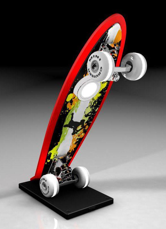 evotec mini cruiser die coole tischleuchte im skateboard design ist nicht nur ein tolles dekoelement im kinder oder jugendzimmer denn durch die in den - Skateboard Regal Kinder Schlafzimmer