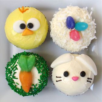 Easter cupcakes too cute cupcakes bb pinterest for Cute cupcake decorating ideas for easter