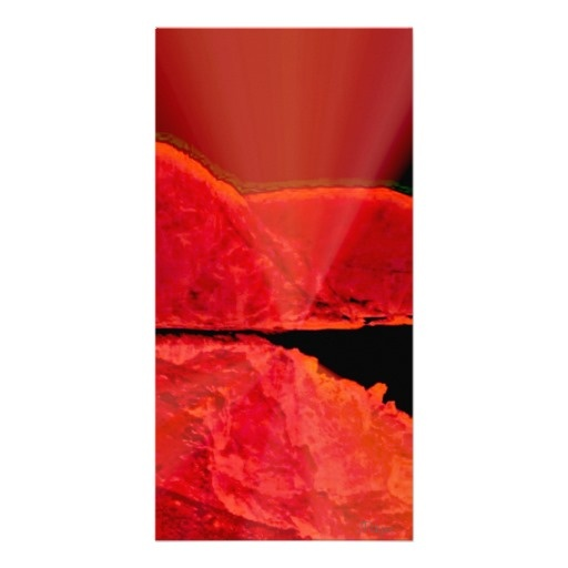 Glowing Red Cliffs Photo Card