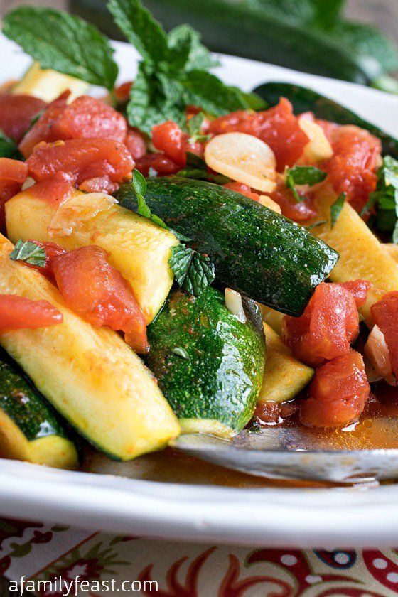 Tuscan Zucchini with Tomatoes, Garlic and Mint - A simple and easy ...