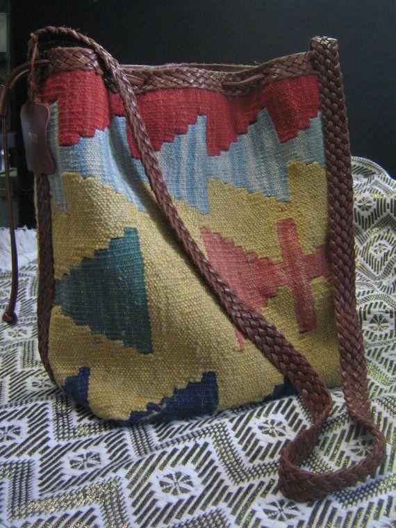 1970s loom woven bag