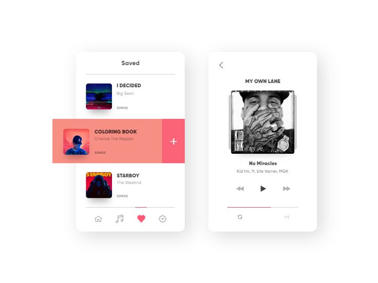 Day 24. Music player UI