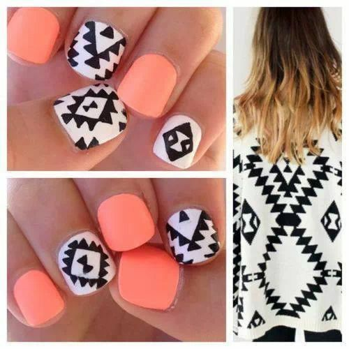 Nails style. Tribal