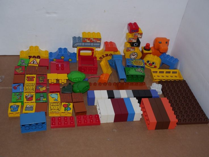 Lego Duplo Lot of Special and Unique Blocks Circus Zoo Hippo Gas Baseplate