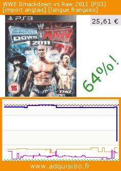 WWE Smackdown vs Raw 2011 (PS3) [import anglais] [langue française] (Jeu vidéo). Réduction de 64%! Prix actuel 25,61 €, l'ancien prix était de 70,83 €. https://www.adquisitio.fr/thq/wwe-smackdown-vs-raw-2011-1