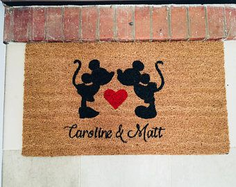 Are you as Disney mad as we are? This mat offers the perfect welcome to all your guests. Personalise this mat with your own names or just use as a traditional welcome mat.   Please check my other listings for unique Disney mats and home decor, with new things coming all the time.  Get yours - https://www.etsy.com/uk/listing/583301525/personalised-disney-door-mat-micky?ref=shop_home_active_21