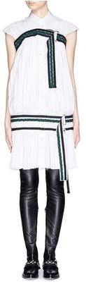 SACAI Braided belt Fortuny pleat shirt dress - Shop for women's Shirt -  Shirt