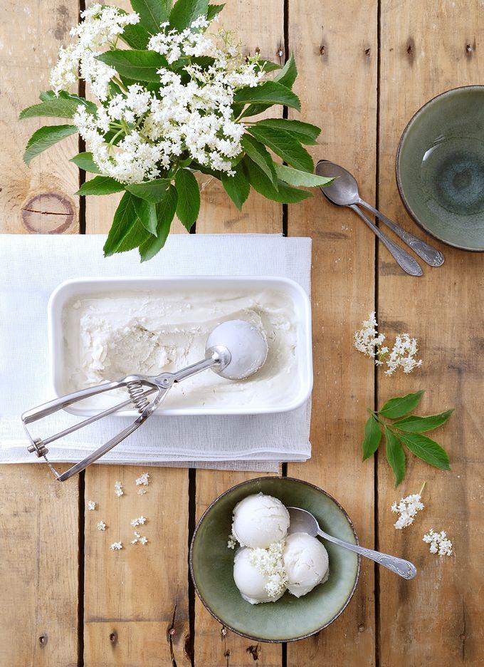 My Sweet Faery: Glace végétale aux fleurs de sureau - Vegan elderflower ice-cream