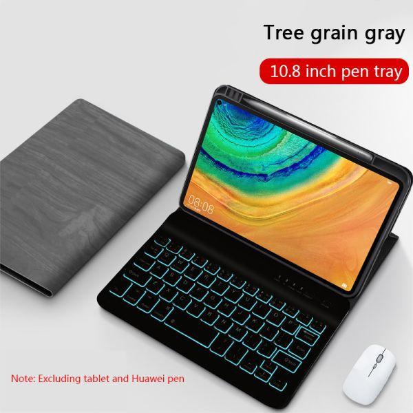104 61 40 Off لوحة المفاتيح اللوحي لهواوي Matepad برو 10 8 بولي Case حافظة جلدية الخلفية المغناطيسي بلوتوث لوحة المفاتيح Tablet Keyboard Tablet Keyboard