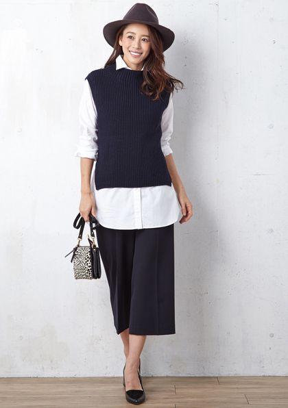 今注目のワイドパンツはこう着こなす☆アラフォー(40代)女性におすすめのワイドパンツの着こなし♪