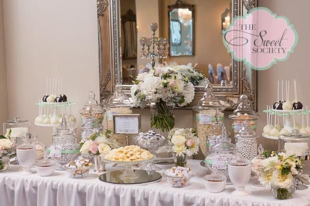 Wedding Sweet Table Ideas: Elegant Wedding Dessert Table