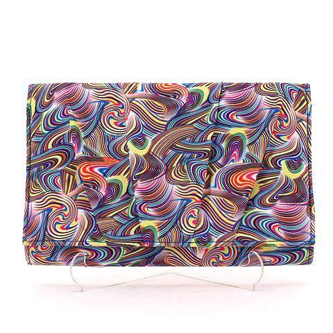 ESSENTIAL clutch in rainbow. #mybetsonBetts #BettsRaceDayReady #BettsShoes
