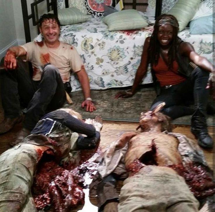 AMC's walking dead - Rick and Michonne