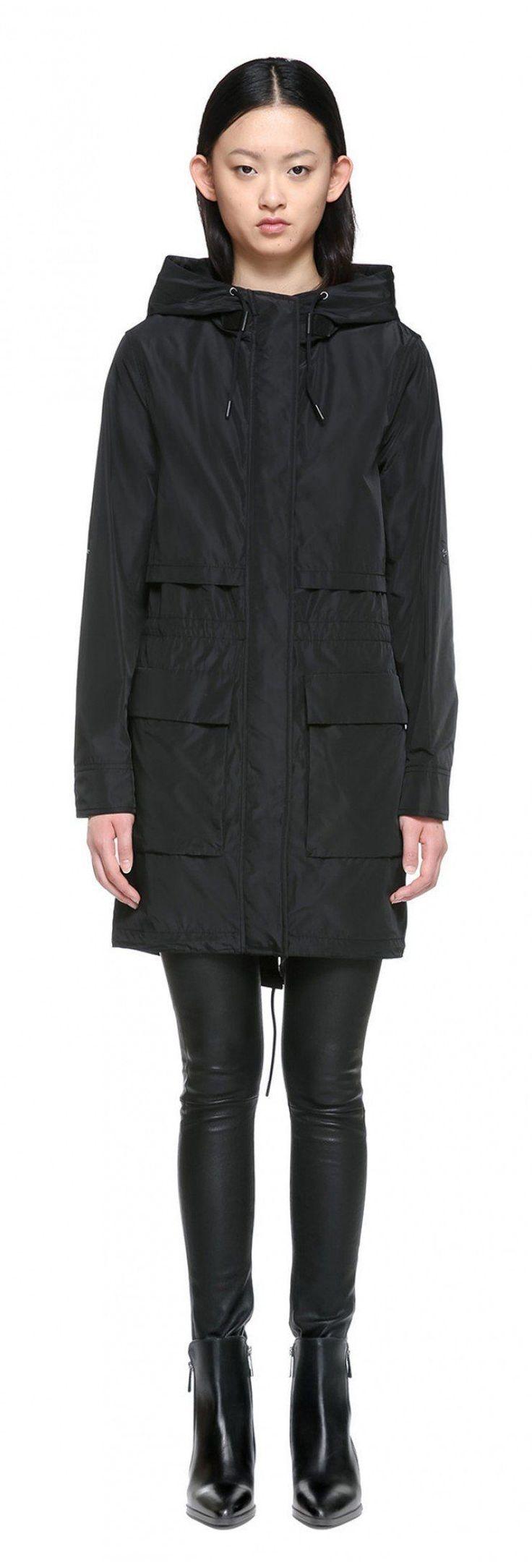 Mackage Cosima Fishtail Parka Raincoat with Hood in Black #RaincoatsForWomenHoods