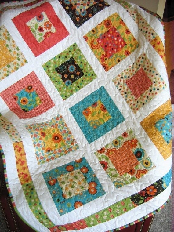 San Francisco Window Boxes Lap or Baby Quilt Pattern....Quick and Easy LAYER Cake or Fat Quarters ..PDF version via Etsy