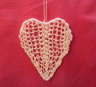 Lace heart for Christmas or Valentines.