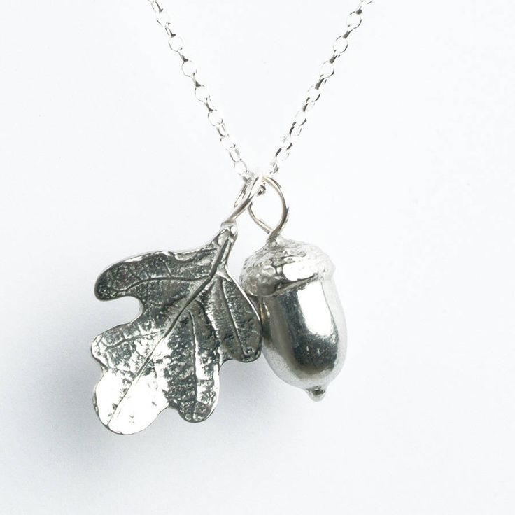 Acorn And Oak Leaf Necklace from notonthehighstreet.com