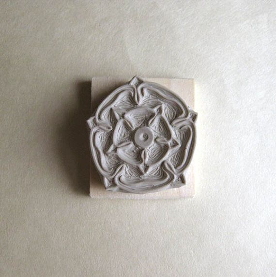 English Rose  HandCarved Stamp by extase on Etsy, $12.00