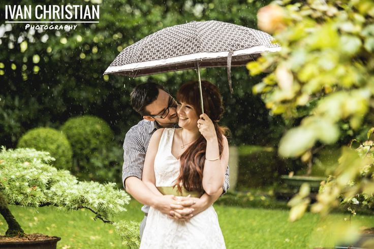 One of my favourites from Zoe's and Alex's E- Shoot. Even a little rain couldn't dampen the smiles and love these two share. I'm so looking forward to the wedding! - Ivan Christian Photography
