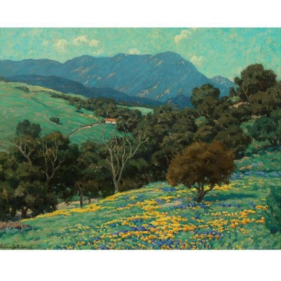 Artwork by Granville Redmond, CALIFORNIA HILLS, Made of oil on canvas