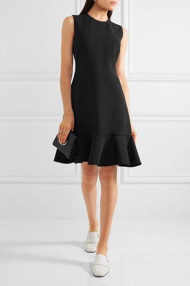 Victoria, Victoria Beckham | Ruffle-trimmed crepe mini dress  | NET-A-PORTER.COM