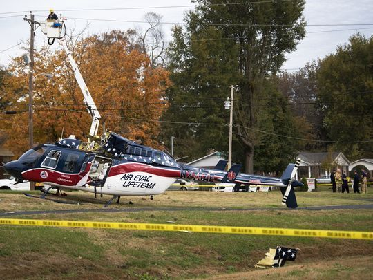 Medical chopper with 3 on board crashes in Union City - The Jackson Sun