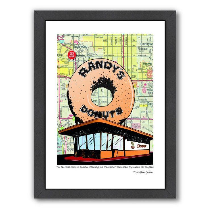 "Americanflat ""Randy's Donuts"" Framed Wall Art, Multicolor"