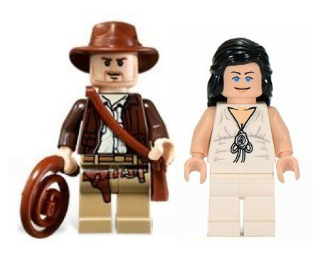 LEGO Indiana Jones & Marion Ravenwood Minifigures @ niftywarehouse.com #NiftyWarehouse #IndianaJones #GeorgeLucas #HarrisonFord #Movies
