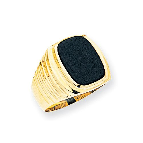 14k Mens Onyx Ring OR68