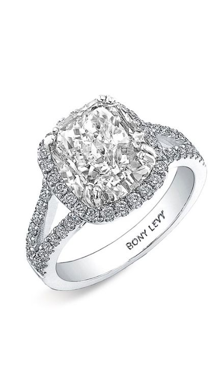 Wow. How gorgeous is this cushion cut ring?