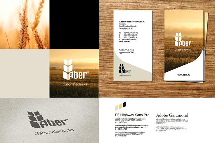 Áber Gabonatechnika identity design by @Dekoratio Brand Studio