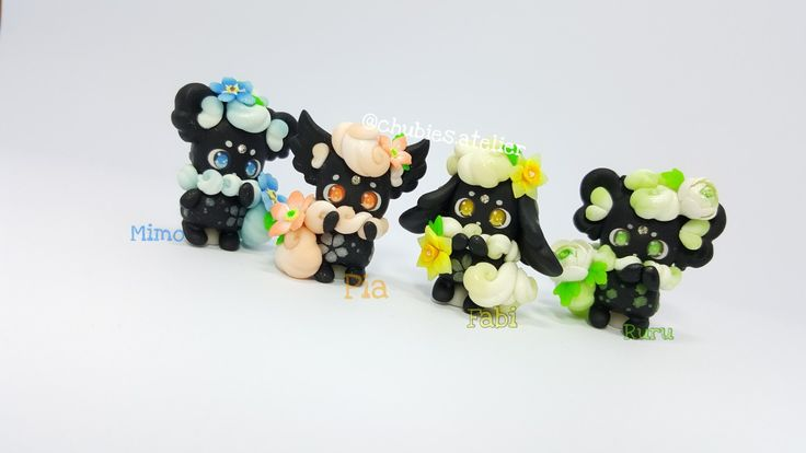 Polymer clay pet. @chubies.atelier #cute #clay #photography #polymerclay  #commission #chibi #love #passion #charms #keychain #gift #craft #handcraft #etsy #kawaii #figurine #sculpting #anime #manga #fimo #premo #otaku #artist #miniture