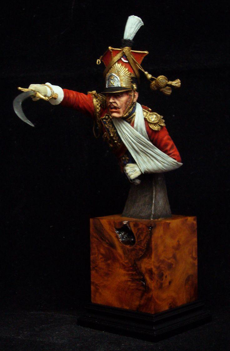 General Colbert leads his Guard Lancers at Wasterloo
